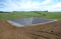 Effluent Pond with Pond Lining