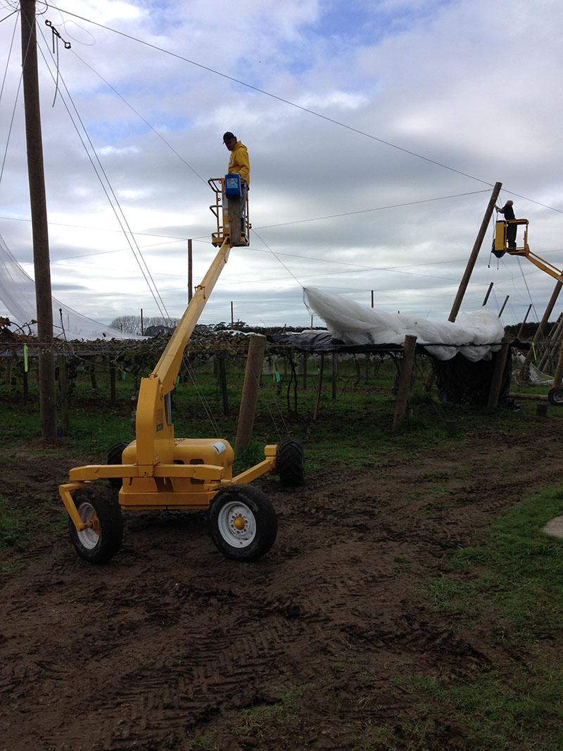 Construction of effluent pond lining